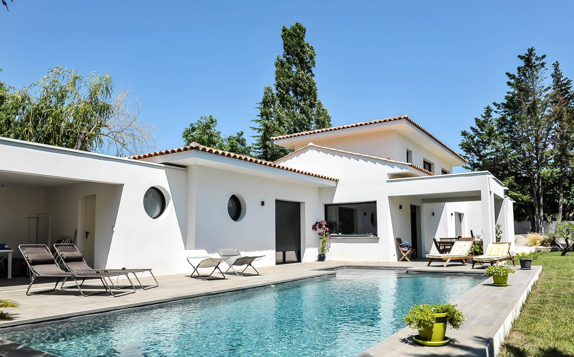 Construction de maison contemporaine h rault mas occitan for Image maison contemporaine