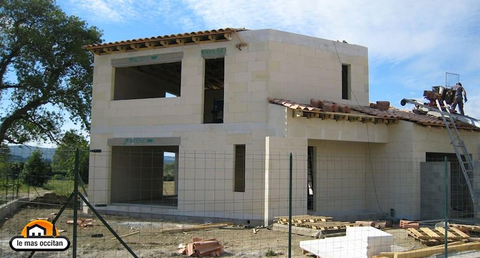 Villa contemporaine bbc beton cellulaire